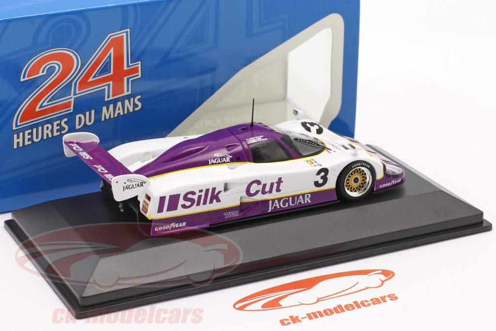 Jaguar XJR-12 #3 winnaar 24h LeMans 1990 Nielsen, Cobb, Brundle 1:43 Ixo