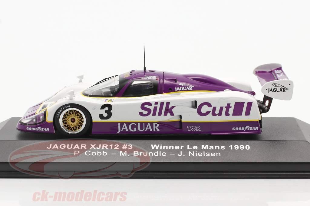 Jaguar XJR-12 #3 vinder 24h LeMans 1990 Nielsen, Cobb, Brundle 1:43 Ixo
