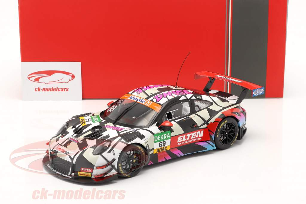 Porsche 911 (991) GT3 R #69 ADAC GT Masters Hockenheim 2018 Danke Fans 1:18 Ixo
