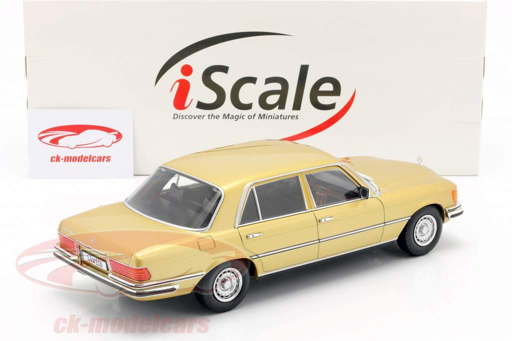 Mercedes-Benz S-klasse 450 SEL 6.9 (W116) 1975-1980 guld 1:18 iScale