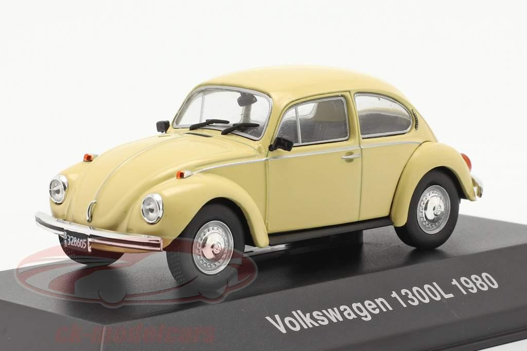 Volkswagen VW Scarabée 1300L Année de construction 1980 jaune clair 1:43 Altaya