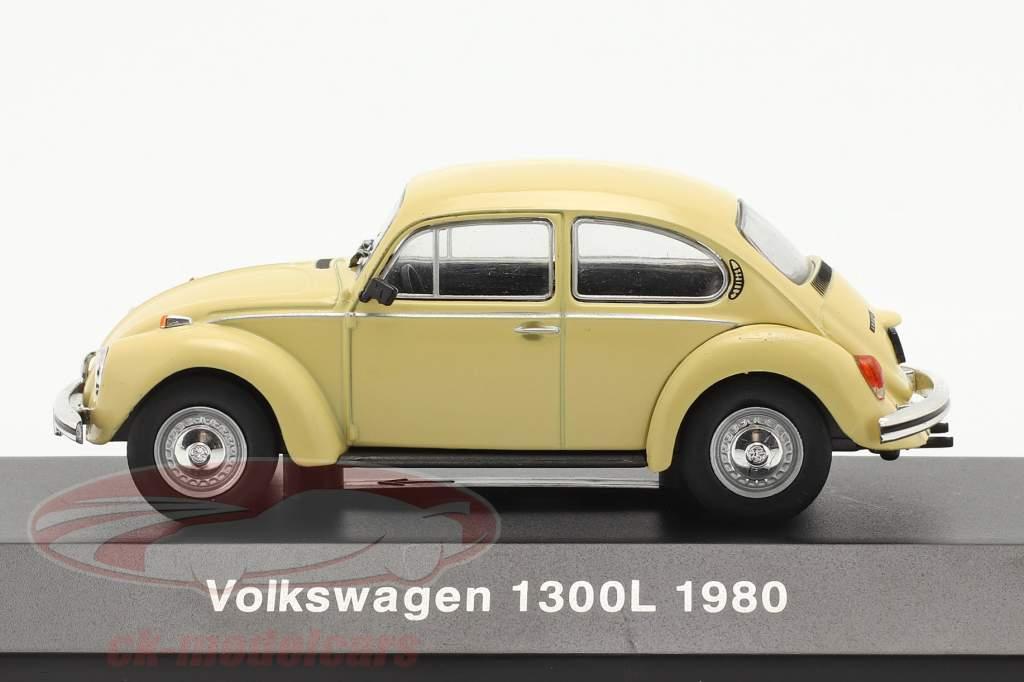Volkswagen VW Escarabajo 1300L Año de construcción 1980 amarillo claro 1:43 Altaya