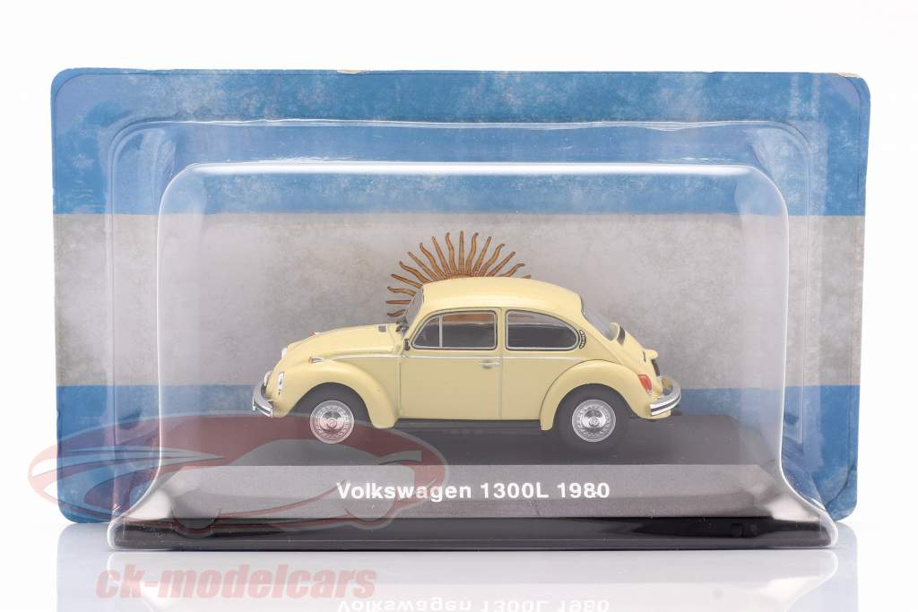 Volkswagen VW Kever 1300L Bouwjaar 1980 licht geel 1:43 Altaya