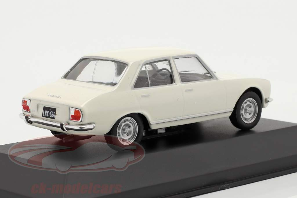 Peugeot 504 Anno di costruzione 1969 bianca 1:43 Altaya