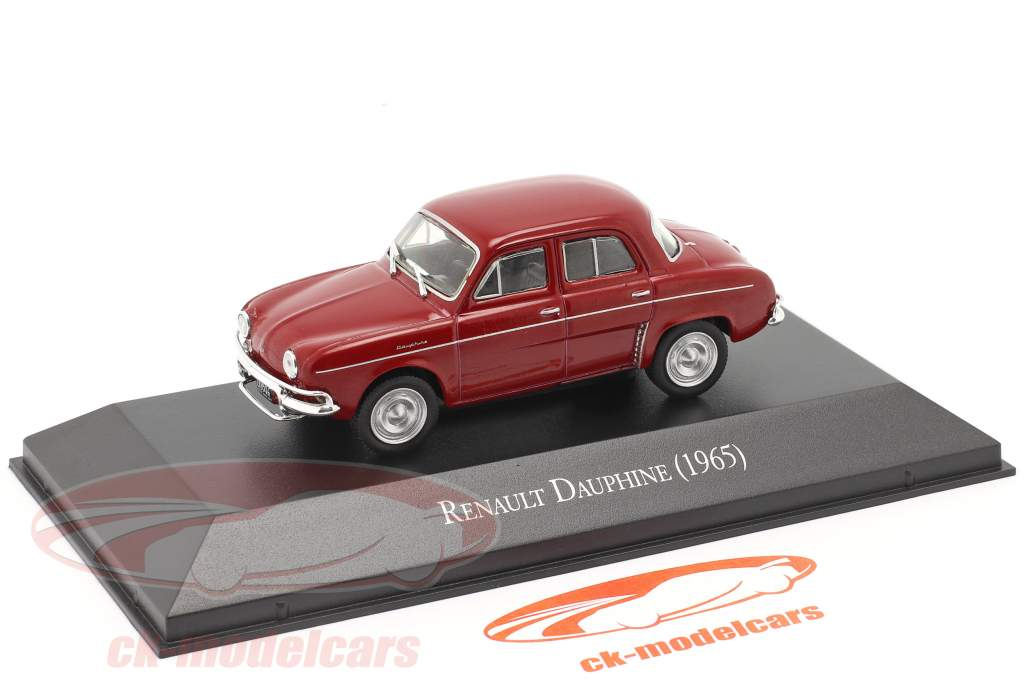 Renault Dauphine Année de construction 1965 foncé rouge 1:43 Altaya