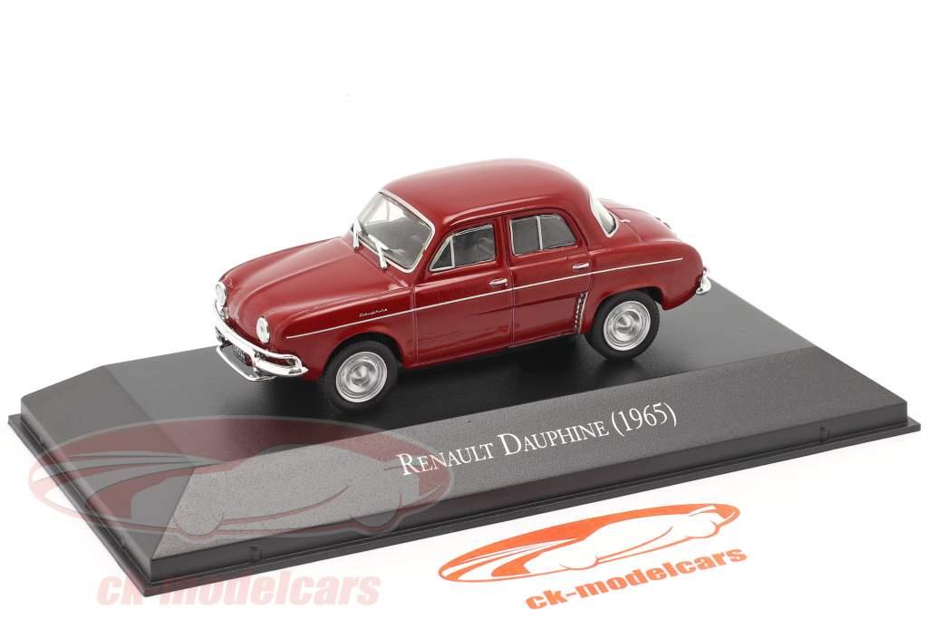 Renault Dauphine Ano de construção 1965 Sombrio vermelho 1:43 Altaya