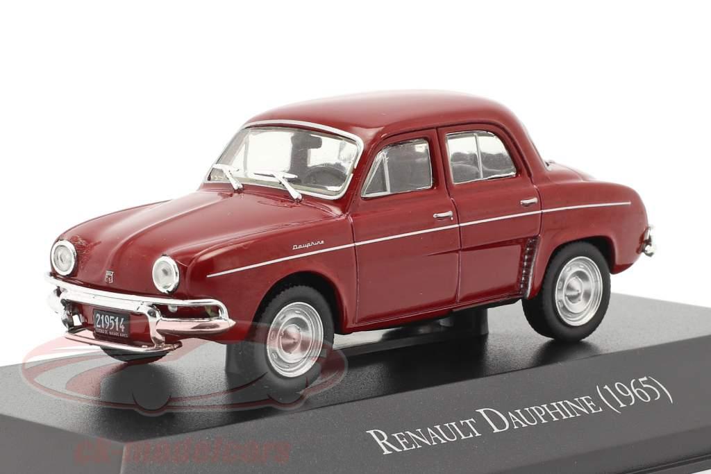 Renault Dauphine Byggeår 1965 mørk rød 1:43 Altaya