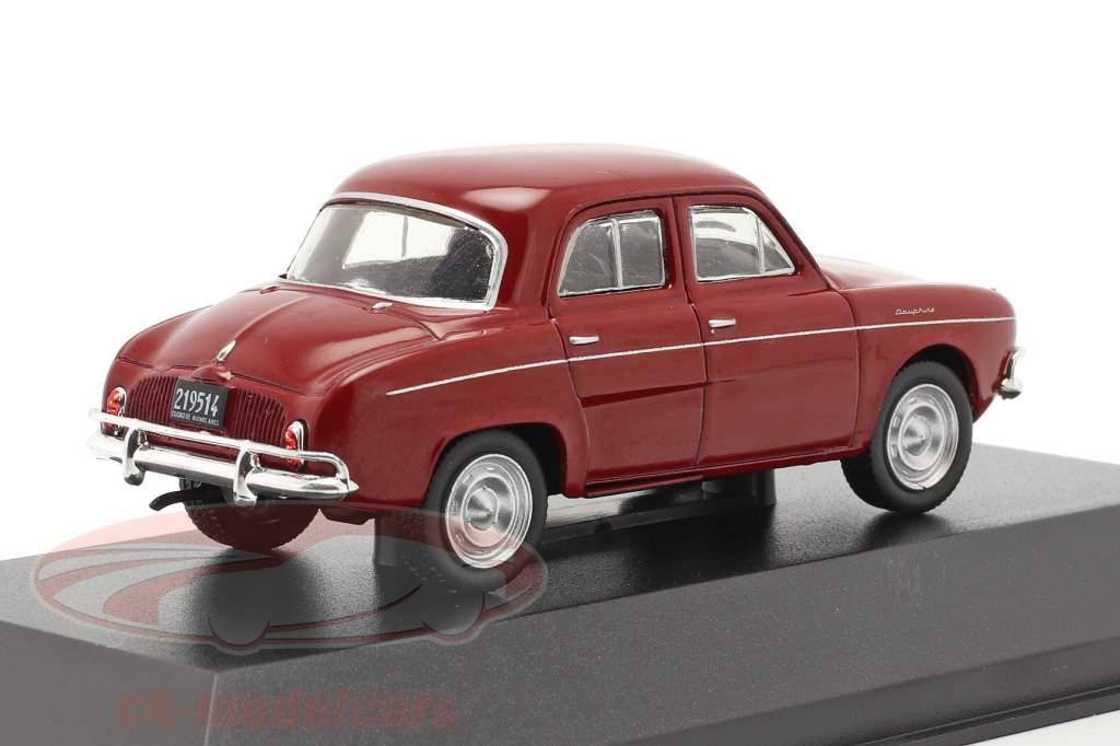 Renault Dauphine year 1965 dark red 1:43 Altaya