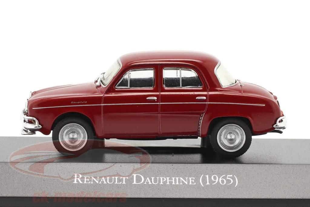 Renault Dauphine Bouwjaar 1965 donker rood 1:43 Altaya
