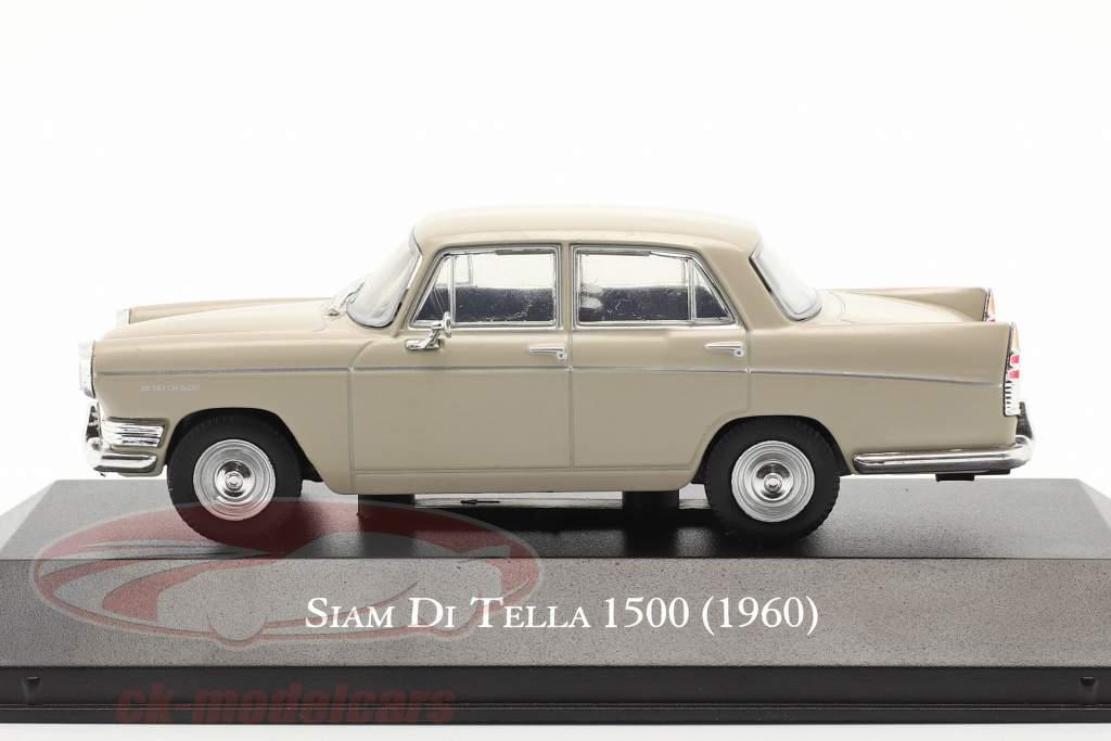 Siam Di Tella 1500 Riley 4 Ano de construção 1960 bege 1:43 Altaya