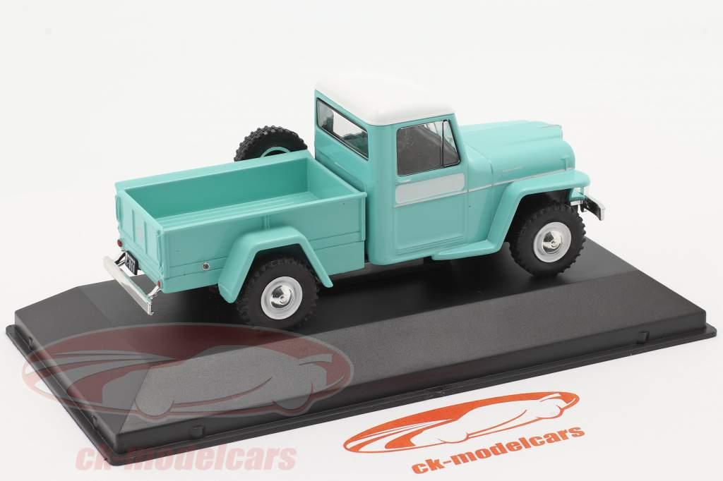 Ika Baqueano 1000 Willys Jeep Truck Bouwjaar 1959 turkoois 1:43 Altaya