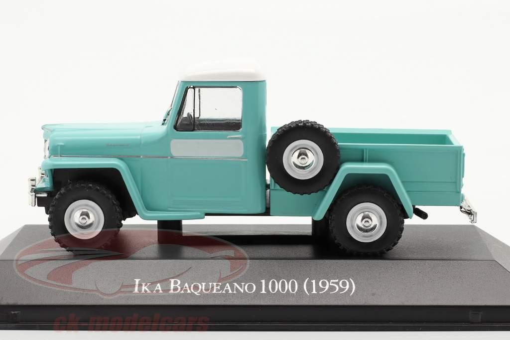 Ika Baqueano 1000 Willys Jeep Truck Año de construcción 1959 turquesa 1:43 Altaya