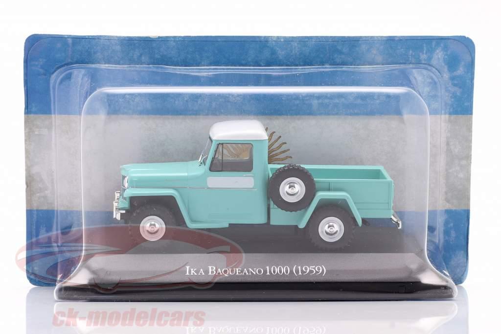 Ika Baqueano 1000 Willys Jeep Truck Baujahr 1959 türkis 1:43 Altaya