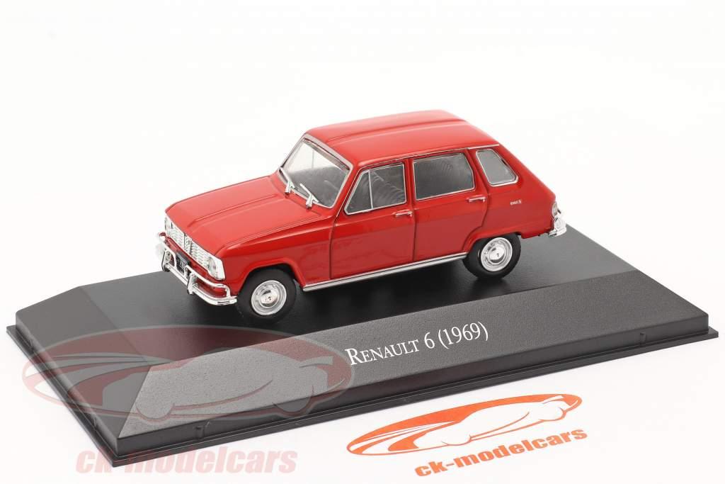 Renault 6 Anno di costruzione 1969 rosso 1:43 Altaya