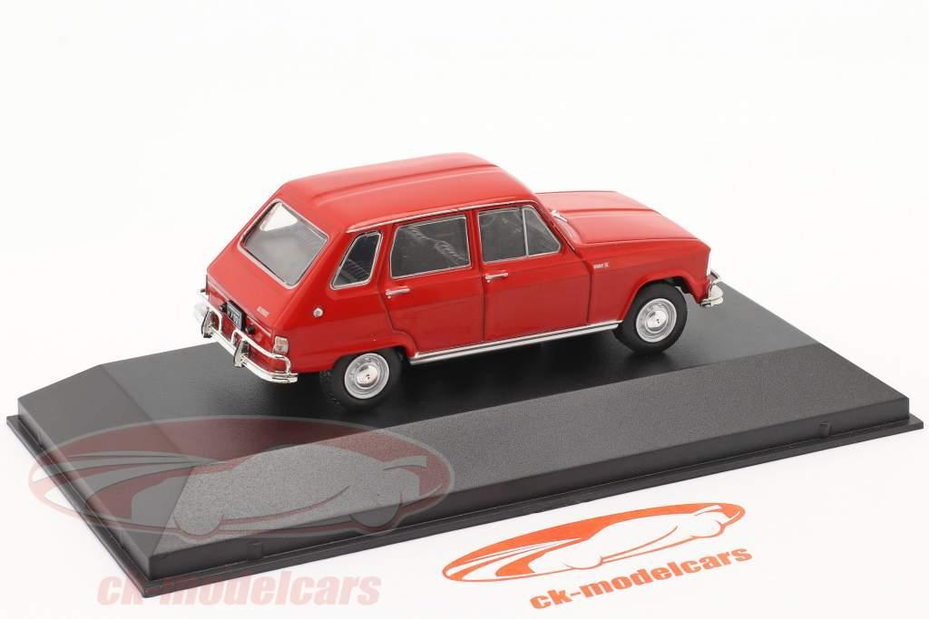 Renault 6 Année de construction 1969 rouge 1:43 Altaya