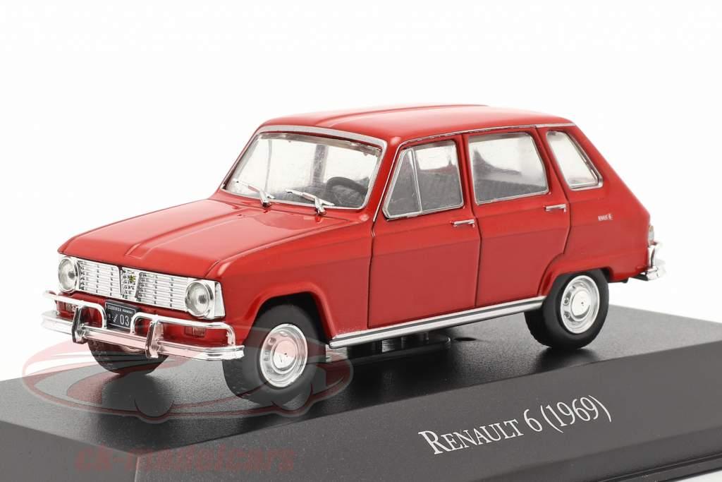 Renault 6 Año de construcción 1969 rojo 1:43 Altaya