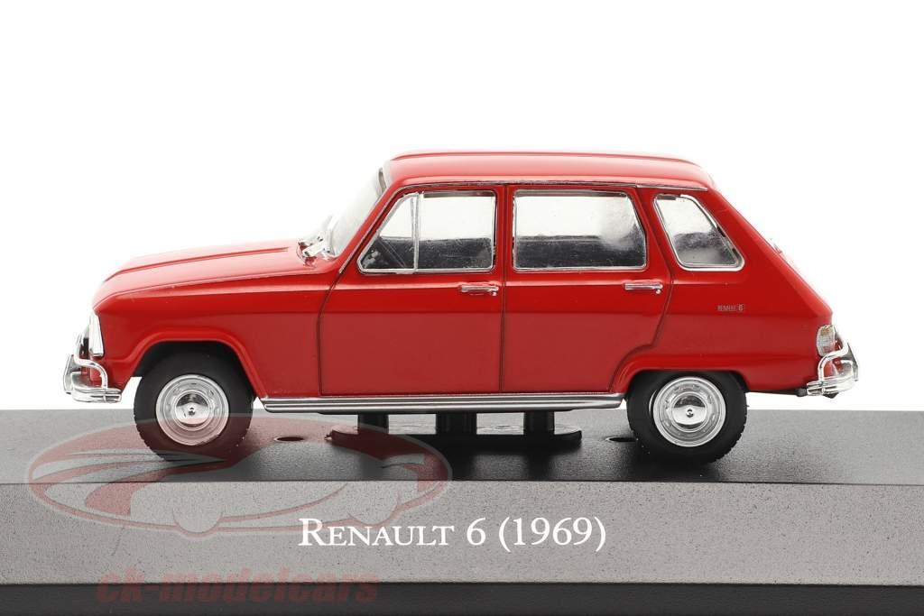 Renault 6 Bouwjaar 1969 rood 1:43 Altaya