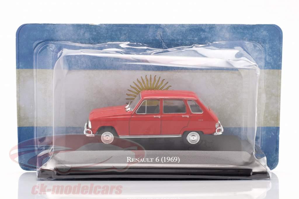 Renault 6 Byggeår 1969 rød 1:43 Altaya