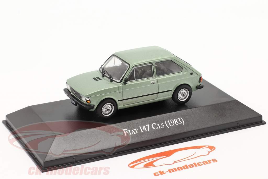 Fiat 147 CL5 Ano de construção 1983 luz verde metálico 1:43 Altaya