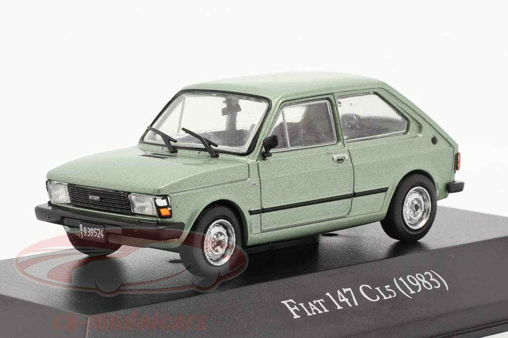 Fiat 147 CL5 year 1983 light green metallic 1:43 Altaya