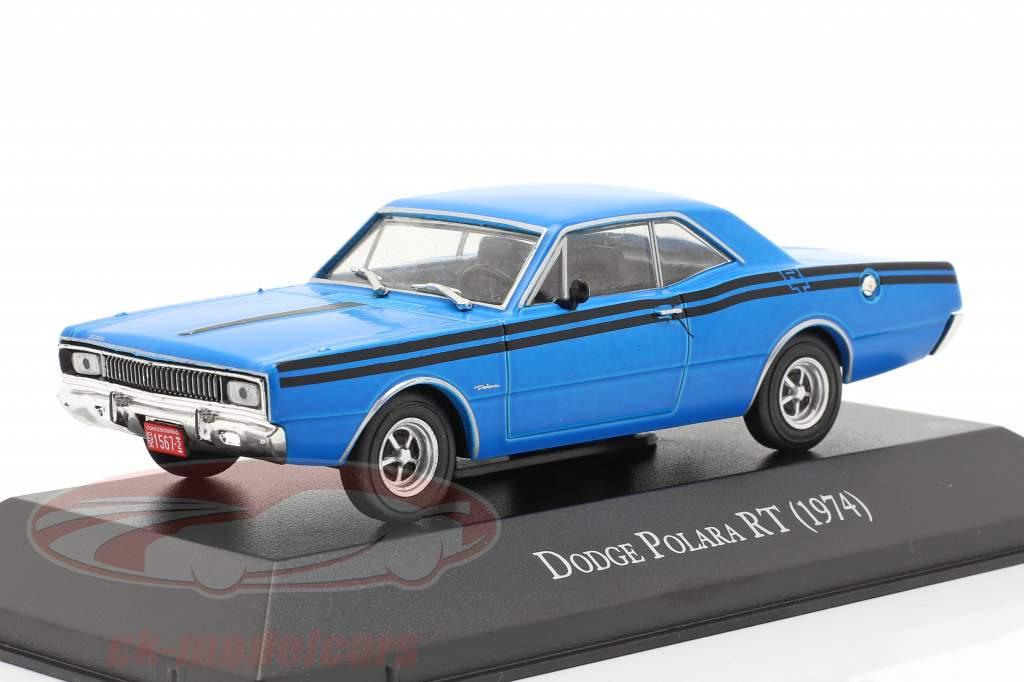 Dodge Polara RT Année de construction 1974 bleu 1:43 Altaya