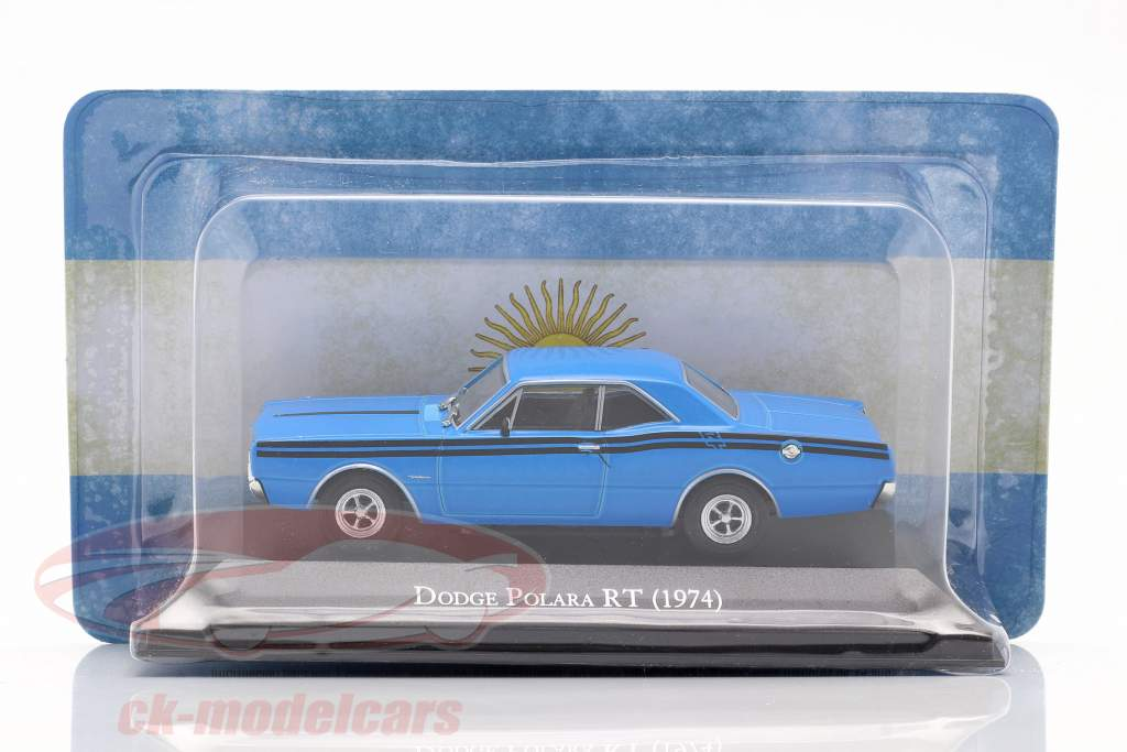 Dodge Polara RT Año de construcción 1974 azul 1:43 Altaya