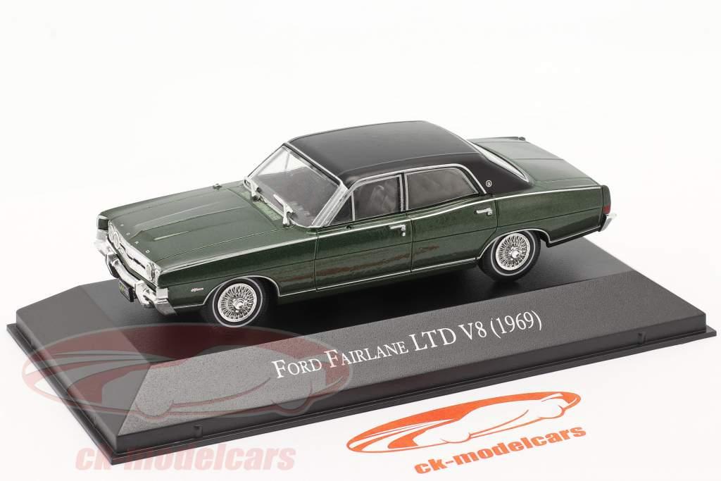 Ford Fairlane LTD V8 Bouwjaar 1969 donkergroen 1:43 Altaya