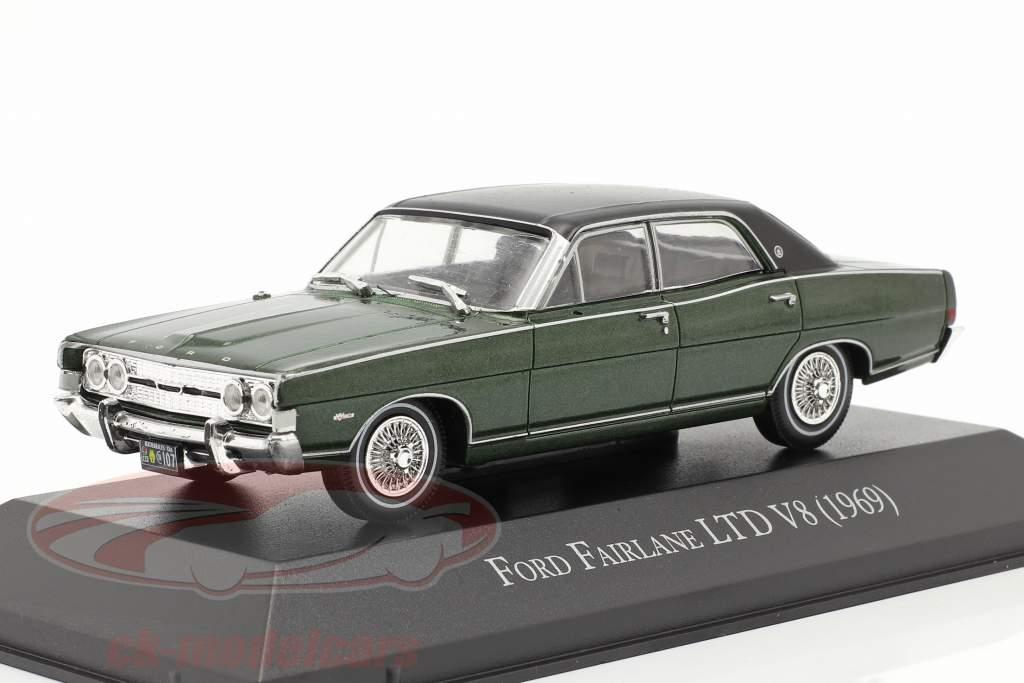 Ford Fairlane LTD V8 Byggeår 1969 mørkegrøn 1:43 Altaya