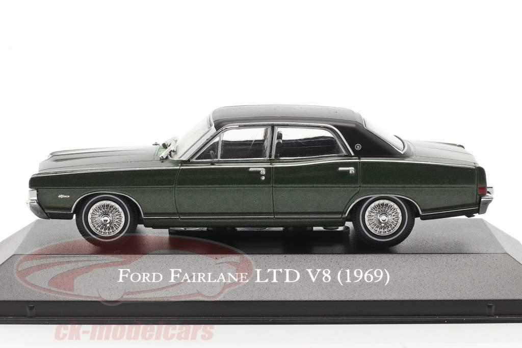Ford Fairlane LTD V8 Anno di costruzione 1969 verde scuro 1:43 Altaya