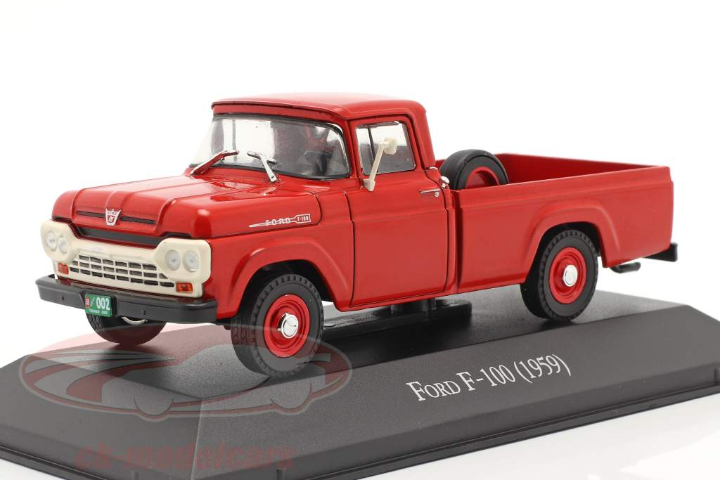 Ford F-100 Pick-Up Anno di costruzione 1959 rosso 1:43 Altaya