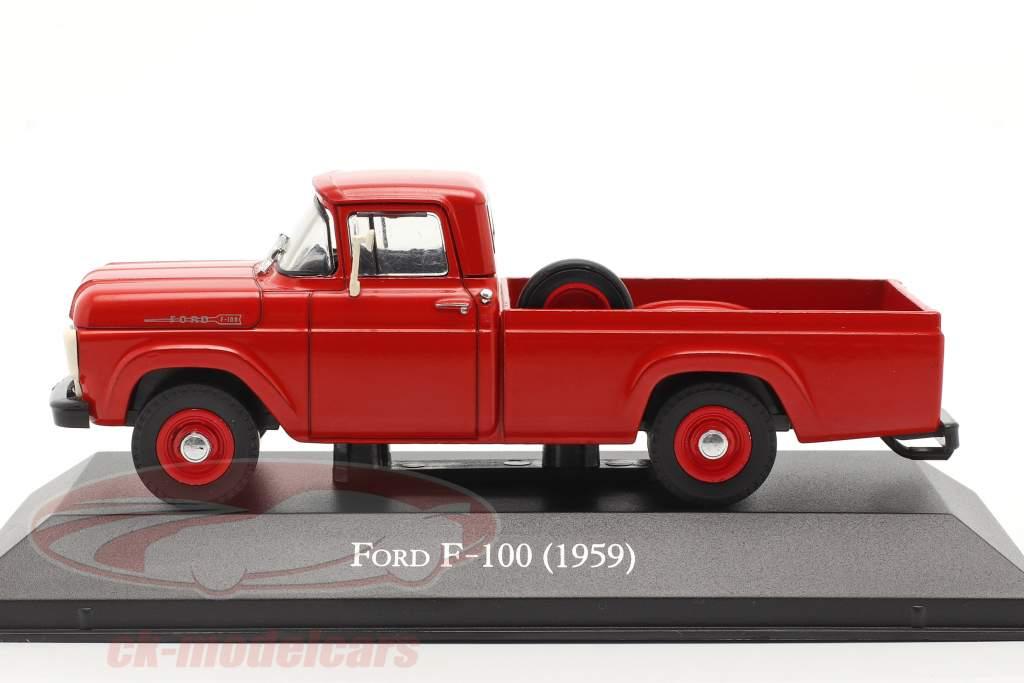 Ford F-100 Pick-Up Ano de construção 1959 vermelho 1:43 Altaya