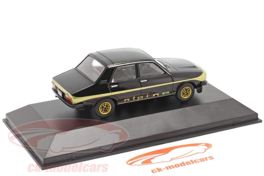 Renault 12 Alpine Byggeår 1978 sort / guld 1:43 Altaya