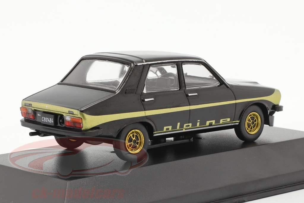Renault 12 Alpine Ano de construção 1978 Preto / ouro 1:43 Altaya