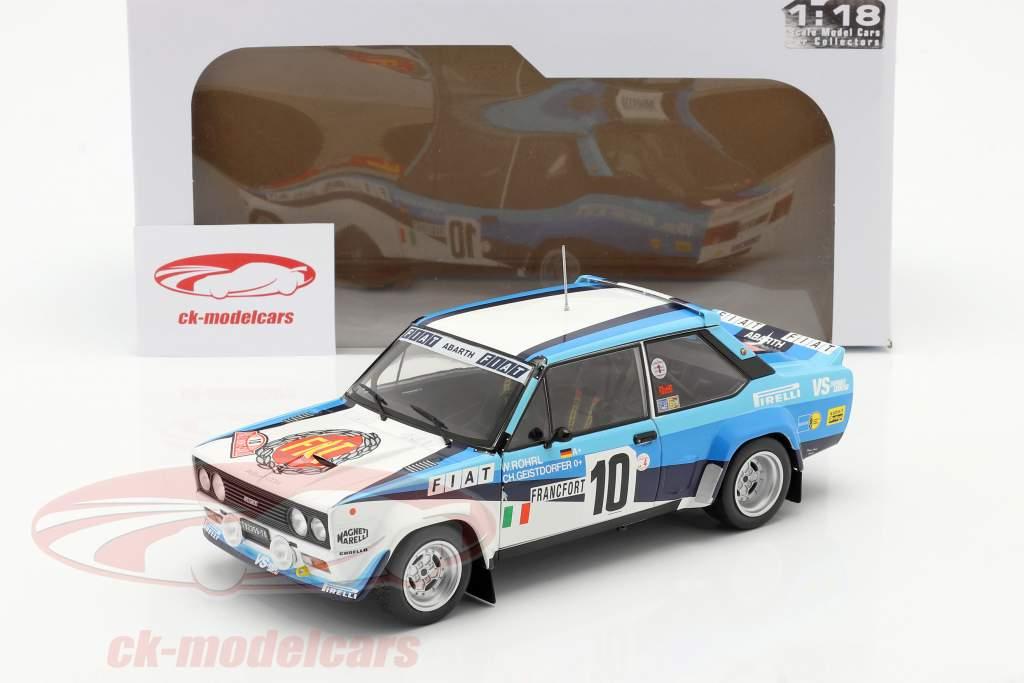 Fiat 131 Abarth #10 победитель Rallye Monte Carlo 1980 Röhrl, Geistdörfer 1:18 Solido