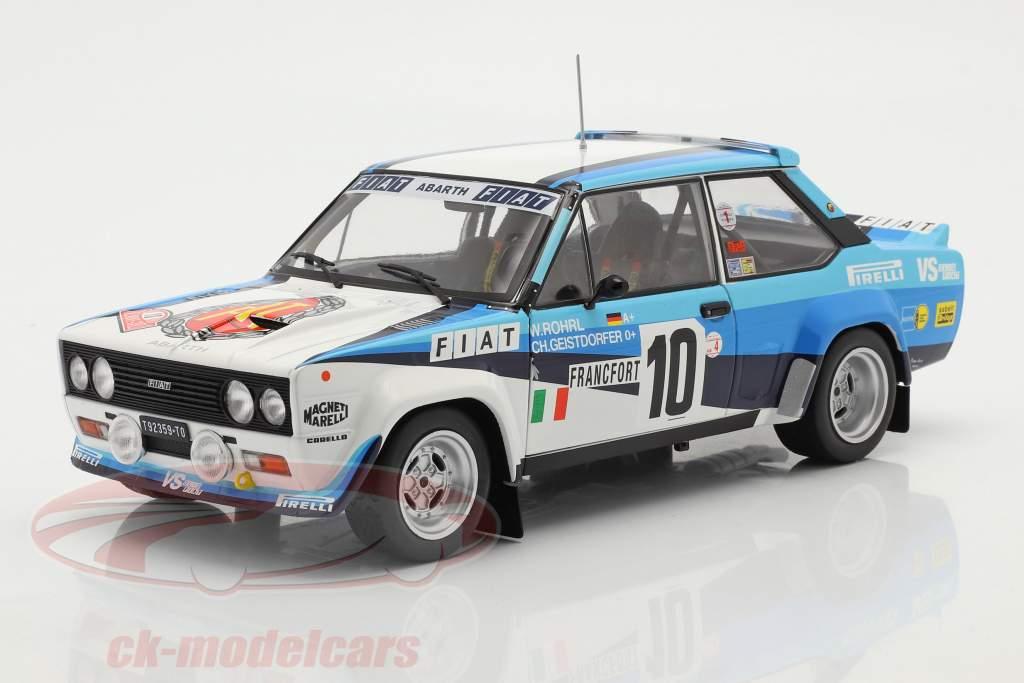 Fiat 131 Abarth #10 vincitore Rallye Monte Carlo 1980 Röhrl, Geistdörfer 1:18 Solido