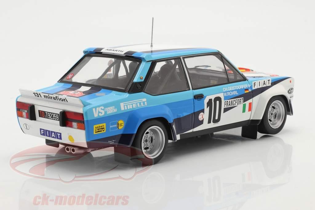 Fiat 131 Abarth #10 winner Rallye Monte Carlo 1980 Röhrl, Geistdörfer 1:18 Solido