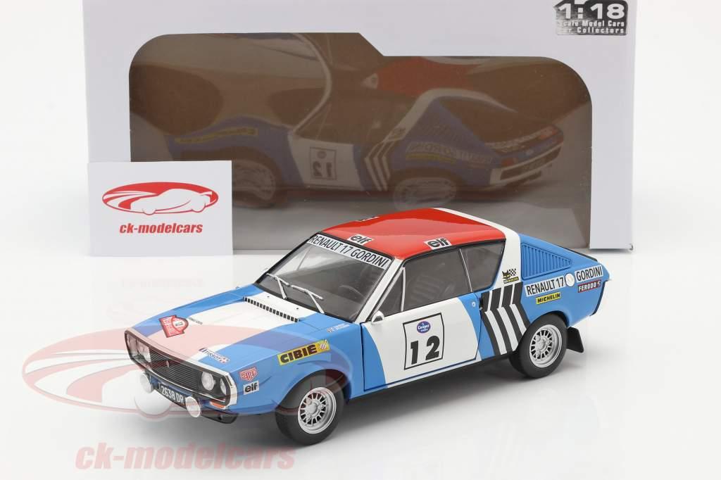 Renault R17 Gordini #12 gagnant Rallye Press-on-Regardless 1974 1:18 Solido