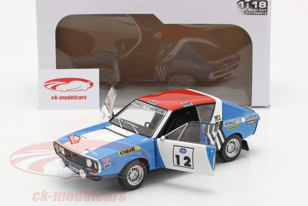 Renault R17 Gordini #12 vinder Rallye Press-on-Regardless 1974 1:18 Solido
