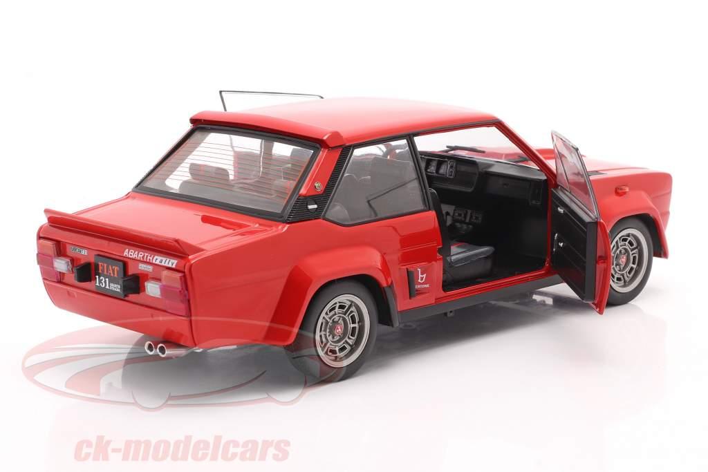 Fiat 131 Abarth Année de construction 1980 rouge 1:18 Solido