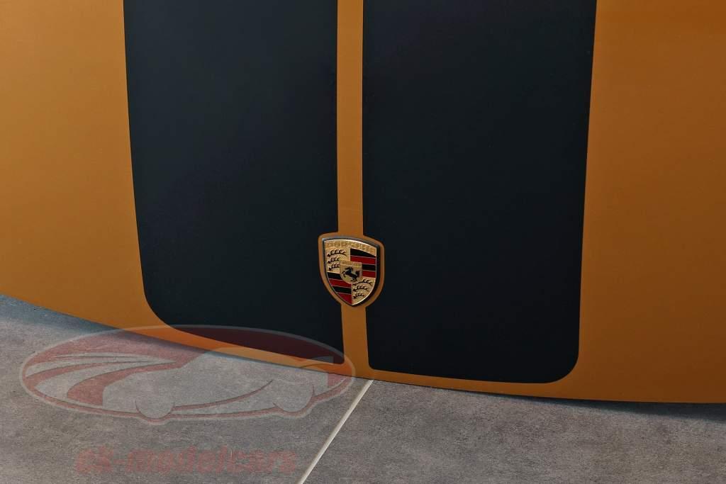 Capucha delantera Porsche 911 Modelo G Exclusivo diseño amarillo dorado metalizado / negro
