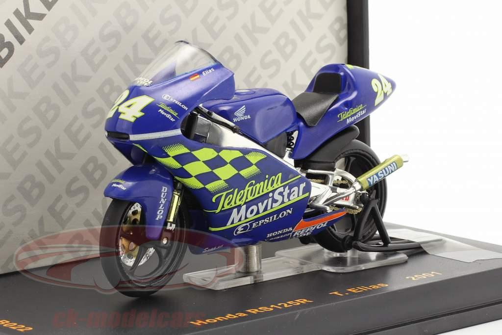 T. Elias Honda RS125R #24 Moto GP 2001 1:24 Ixo