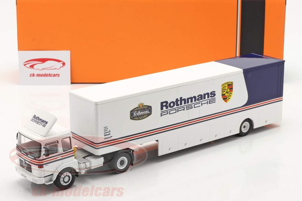 MAN Büssing 19.320 Course Voiture Transporteur Rothmans Porsche Motorsport 1:43 Ixo