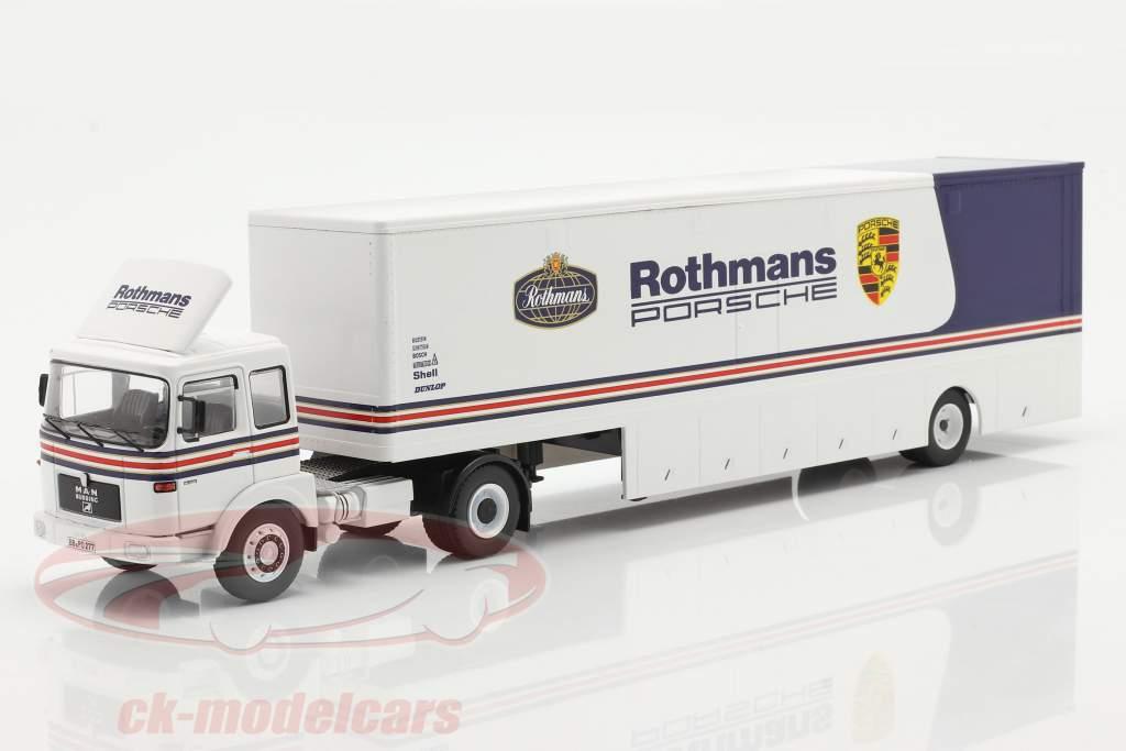 MAN Büssing 19.320 Race Car Transporter Rothmans Porsche Motorsport 1:43 Ixo