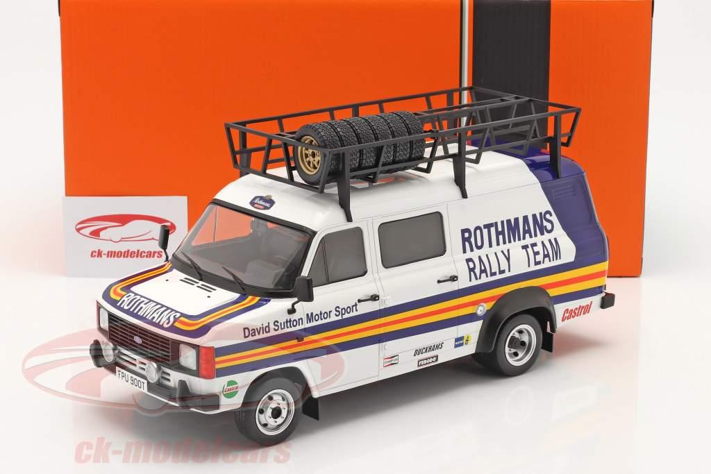 Ford Transit MK II Ван Rallye Assistance Rothmans 1:18 Ixo