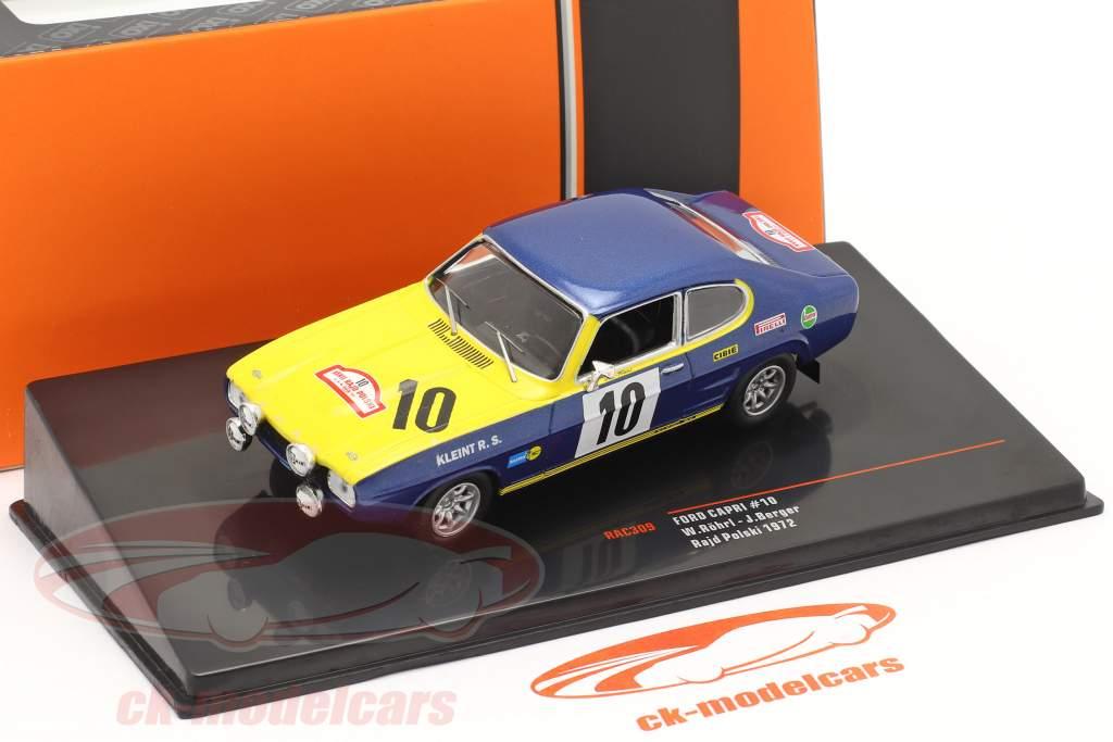 Ford Capri 2600 #10 2nd Rallye Rajd Polski 1972 Röhrl, Berger 1:43 Ixo