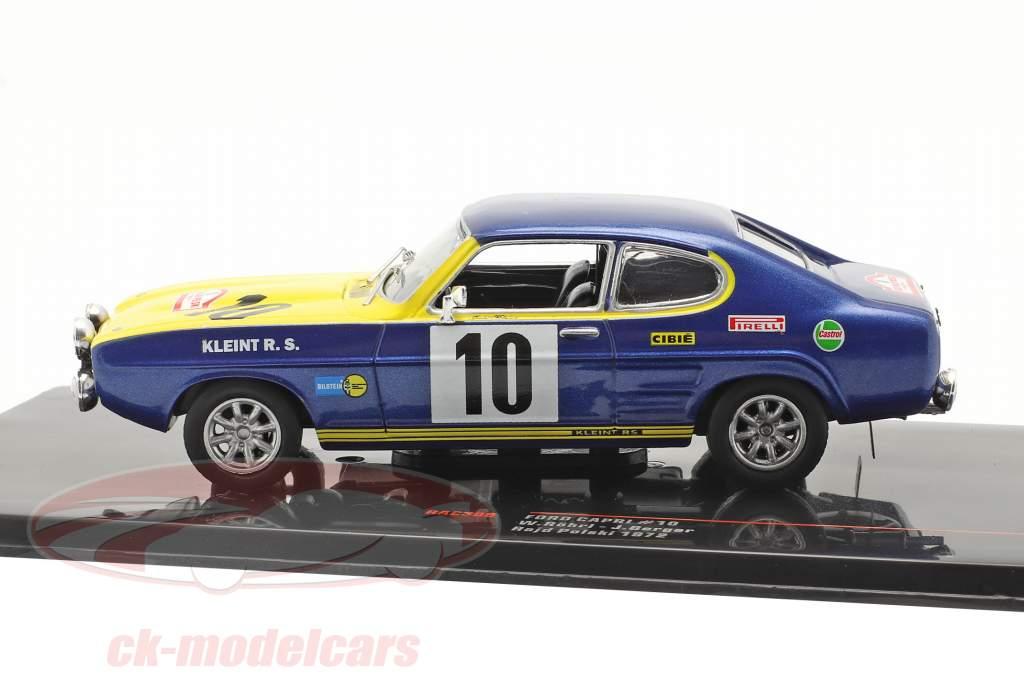 Ford Capri 2600 #10 2e Rallye Rajd Polski 1972 Röhrl, Berger 1:43 Ixo