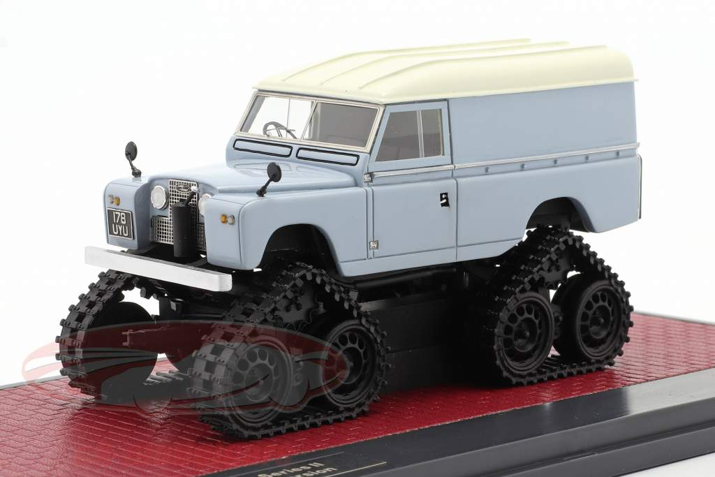 Land Rover Series II Cuthbertson Conversion 1958 blu grigio / bianca 1:43 Matrix