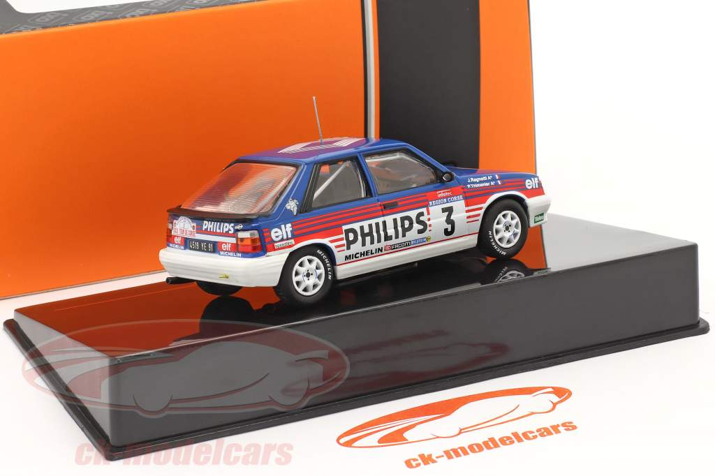 Renault 11 Turbo #3 3e Rallye Tour de Corse 1987 Ragnotti, Thimonier 1:43 Ixo