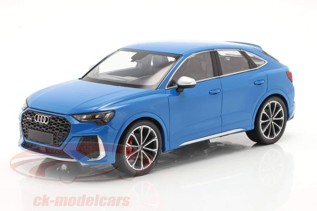 Audi RS Q3 Sportback (F3) Anno di costruzione 2019 blu metallico 1:18 Minichamps