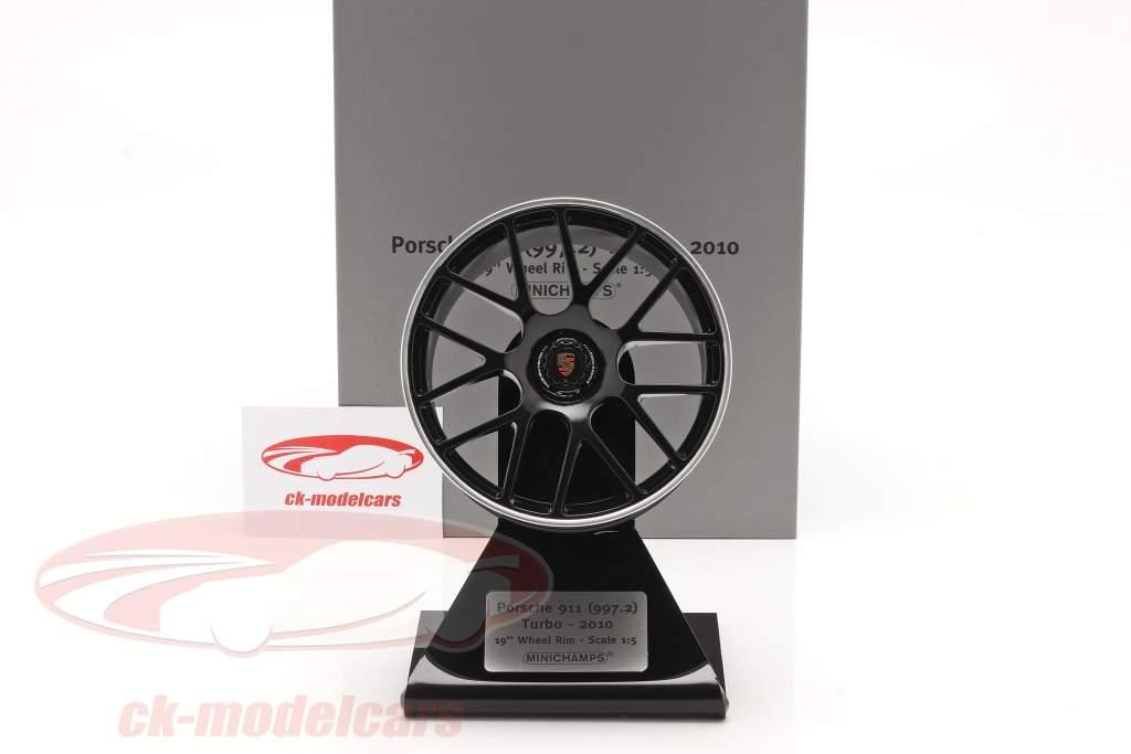 Porsche 911 (997 II) Turbo 2010 aro 19 inch Preto 1:5 Minichamps